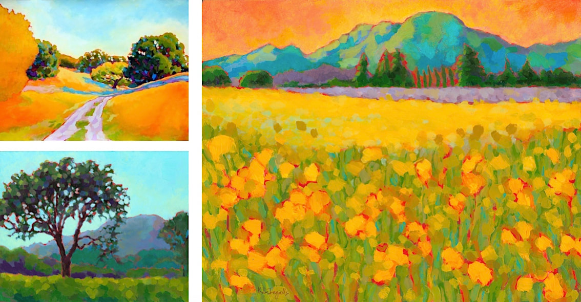 Landscape painting art workshop, Karen Lynn Ingalls, Northern California landscape art