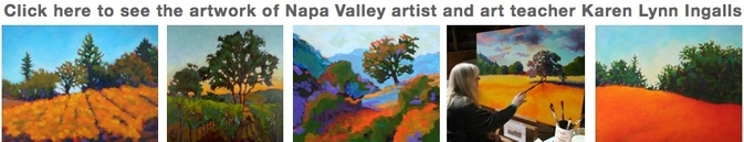 Landscape paintings, landscape art of Northern California, Napa Valley artist Karen Lynn Ingalls