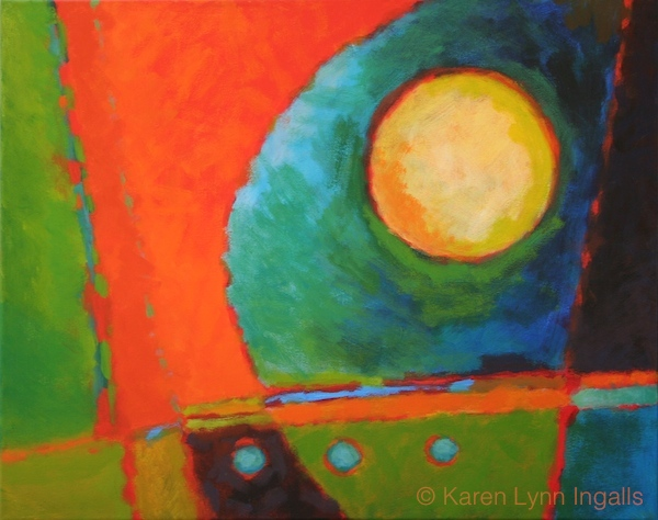 abstract painting, abstract painting in acrylics, Karen Lynn Ingalls