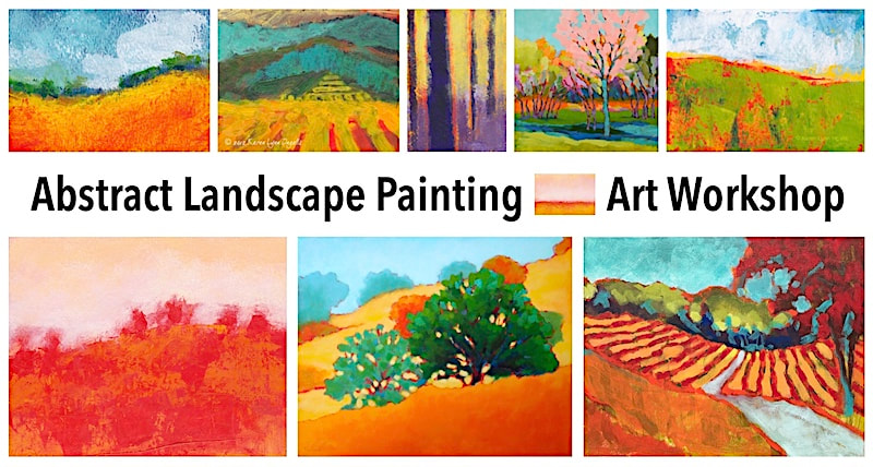 Abstract Landscape Painting - Online Art Workshop