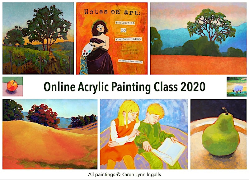Online Acrylic Painting Class - 2020 - for painters of landscapes, still lifes, and more